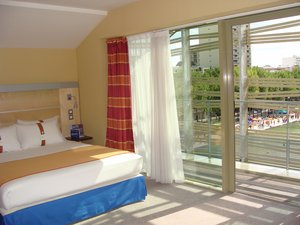 Your double room on the roof with balcony and canal view