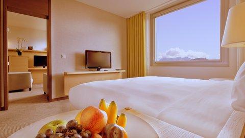 انتركوتيننتال جنيف - Bedroom in an Executive Lake Geneva Suite