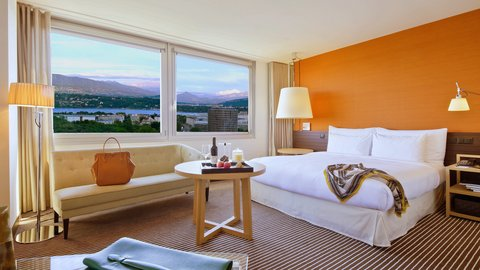 انتركوتيننتال جنيف - Comfortable Executive Junior Suite with Lake Geneva View