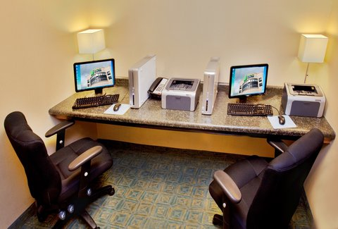Holiday Inn Express WATERLOO-CEDAR FALLS - Business center equipped with 2 computers and printers