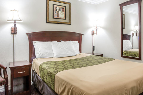 Econo Lodge Fresno - Guest room with queen bed