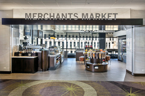 Holiday Inn Chicago Mart Plaza Hotel - Merchants Market is Located on the 15th Floor Lobby
