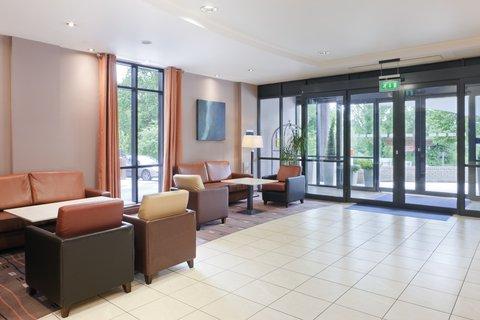 Holiday Inn Express DUBLIN AIRPORT - The beautiful bright hotel lobby in the holiday inn express