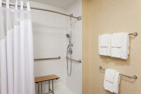 Holiday Inn BANGOR - ADA Handicapped accessible Guest Bathroom with roll-in shower