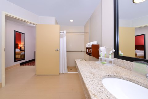 Holiday Inn Express CRESTWOOD - Enjoy the spacious bathroom in this accessible room