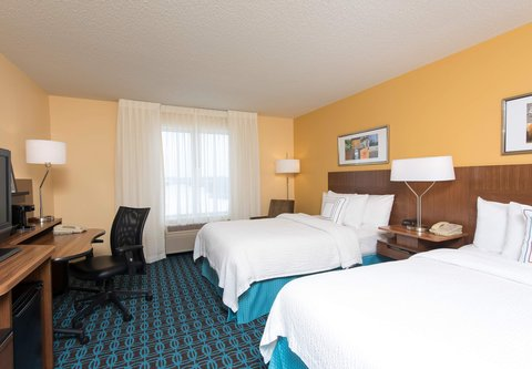 Fairfield Inn And Suites St Charles Hotel - Double Double Guest Room