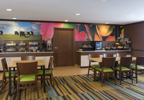 Fairfield Inn And Suites St Charles Hotel - Breakfast Area