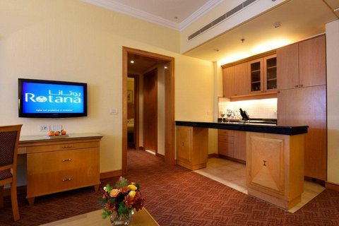Gefinor Rotana Hotel - Two Bedroom Suite Kitchenette