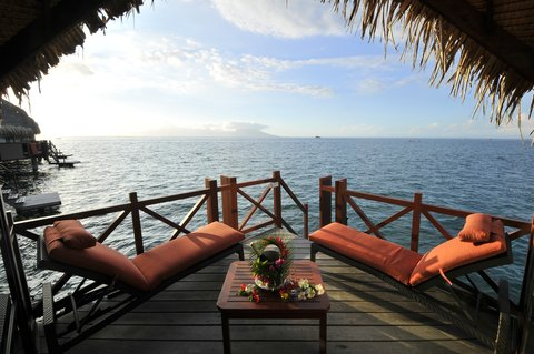 Intercontinental Resort Tahiti - Private deck of an Overwater Lagoon Bungalow