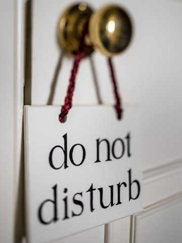 The Talbot Hotel - Do Not Disturb Sign