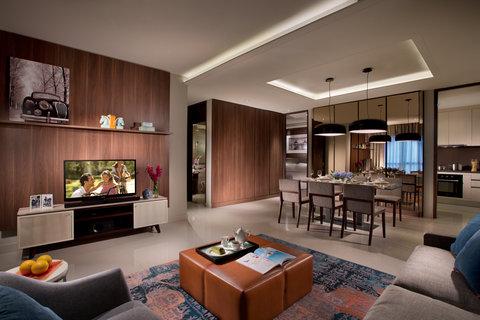 Ascott Waterplace Surabaya - 3-Bedroom Apartement s Living Room  Ascott Waterplace Surabaya