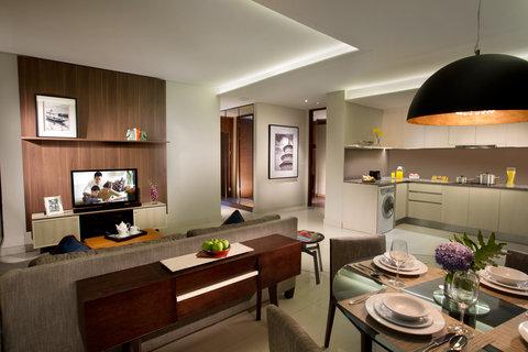 Ascott Waterplace Surabaya - 2-Bedroom Apartement s Living Room  Ascott Waterplace Surabaya
