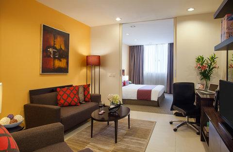 薩默塞特和平公寓式酒店 - Living room of 1 Bedroom Deluxe