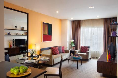 薩默塞特和平公寓式酒店 - Living room of 2 Bedroom Executive