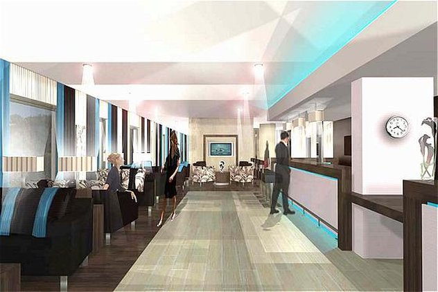 Holiday Inn Express Aberdeen-Exhibition Centre Bar/salón