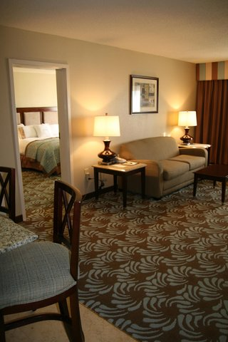 Doubletree Hotel Augusta - King Suite View from Den