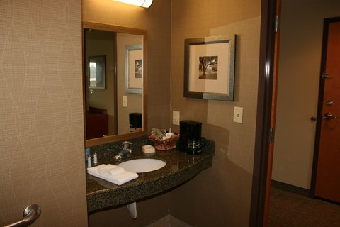 Hampton Inn - Suites Birmingham Airport Area AL - King Accessible Bathoom