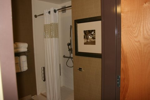 Hampton Inn - Suites Birmingham Airport Area AL - Roll-In Shower