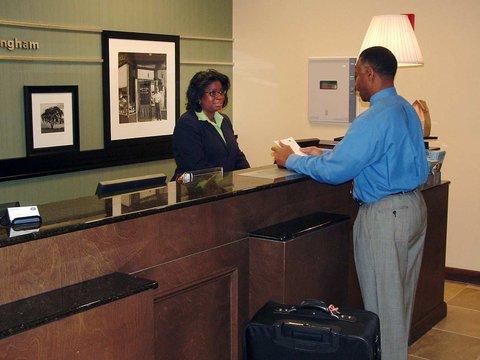 Hampton Inn-Birmingham I-65-Lakeshore Dr - Front Desk