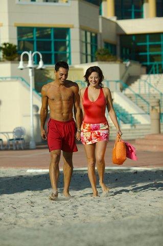 Hilton Daytona BeachResort-Ocean Walk Village - Couple on the Beach