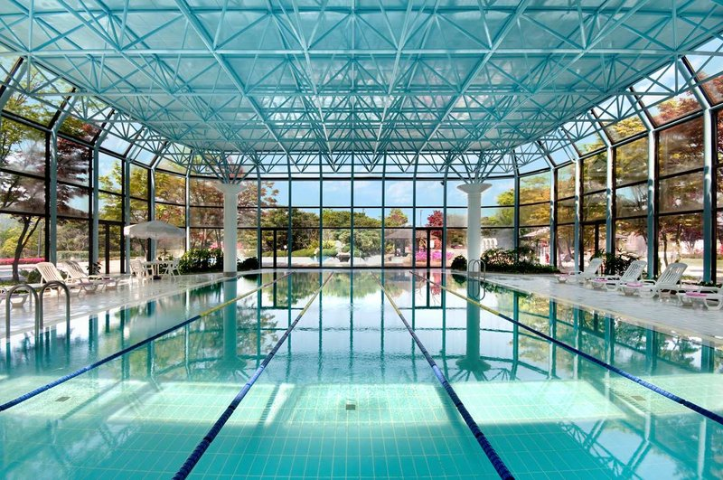 Gyeongju Hilton Kilátás a medencére