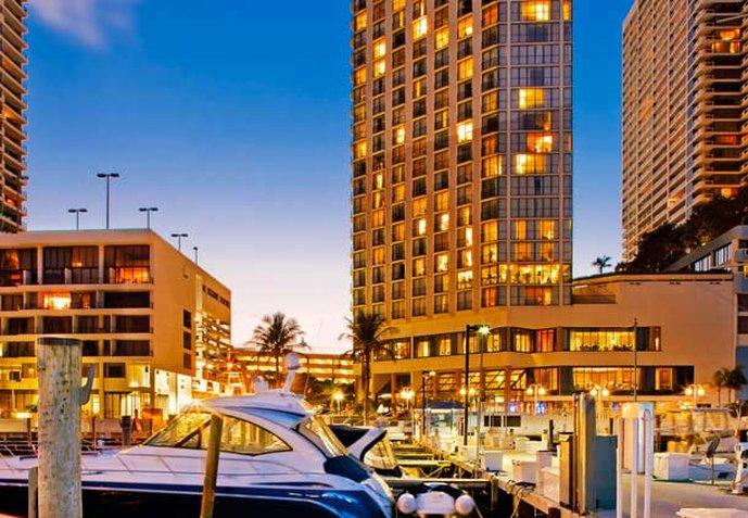Marriott Biscayne Bay Hotel and Marina Vista exterior
