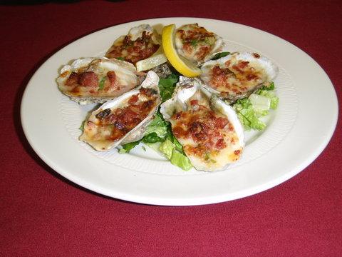 Ramada Plaza Nags Head Oceanfront - Stuffed Oysters dish