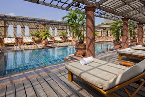 Relax at our swimming pool on the rooftop after the long day