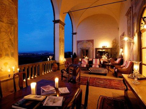 Villa Mangiacane - Loggia By Night