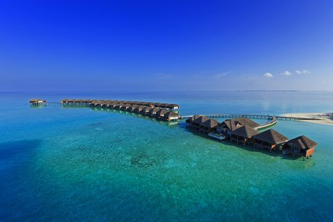 Velassaru Maldives - Aerial Of Spa Water Villas