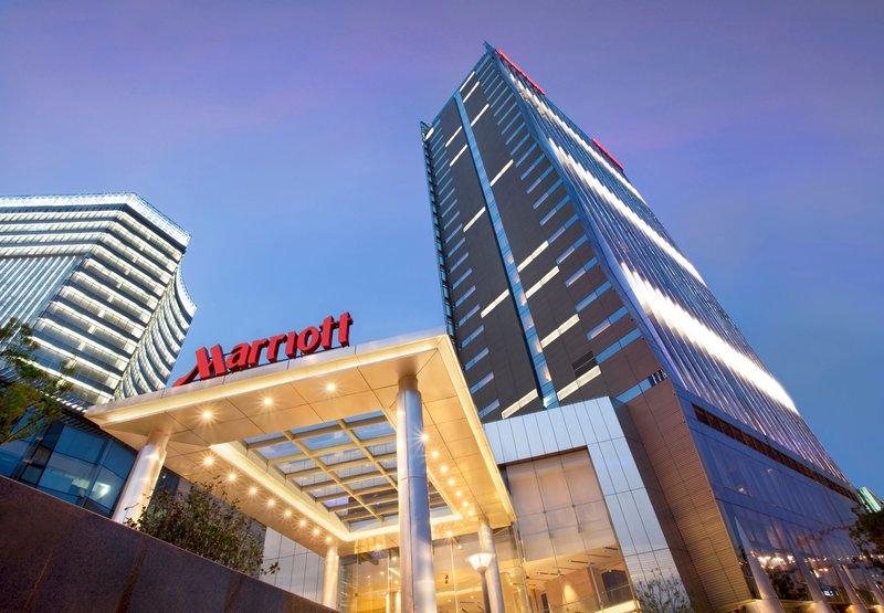 Shanghai Marriott Hotel Luwan Vue extérieure
