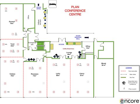 Ramada Encore Geneva - Plan of the Conference Center