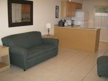 Sandy Shores Motel - Living Room And Kitchen
