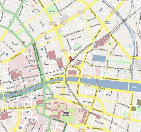 Beresford Hotel IFSC - Map