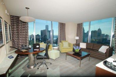 Greektown Casino Hotel - Luxury Suite Living Area