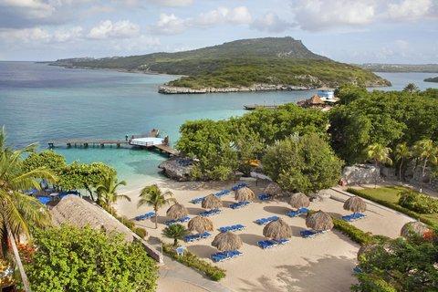 Curacao Hilton Hotel - Beach overview