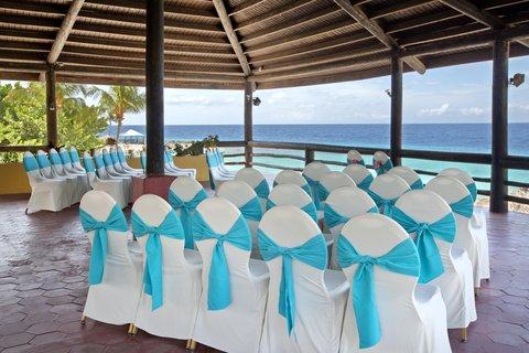 Curacao Hilton Hotel - Pavillion wedding set up