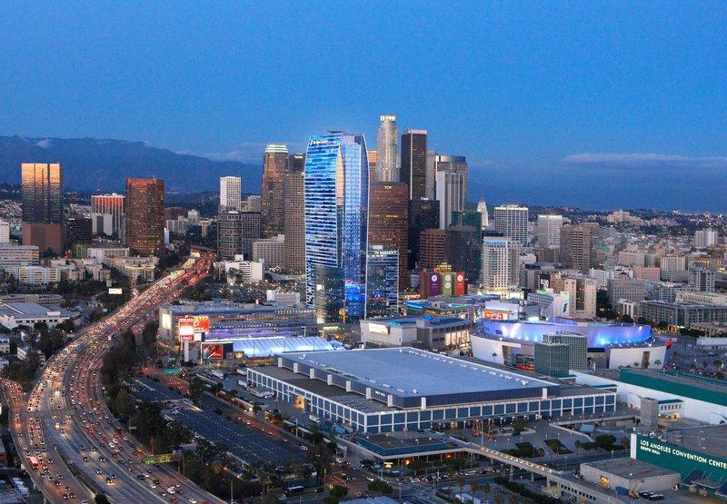 JW Marriott Los Angeles L.A. LIVE Widok z zewnątrz