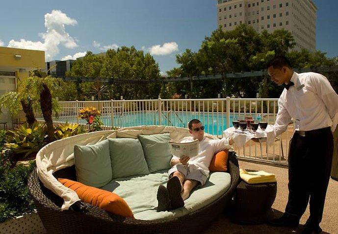 Courtyard Miami Coral Gables Havuzun görünümü