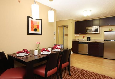TownePlace Suites Albany Downtown Medical Center Hotel - Two-Bedroom Suite Kitchen