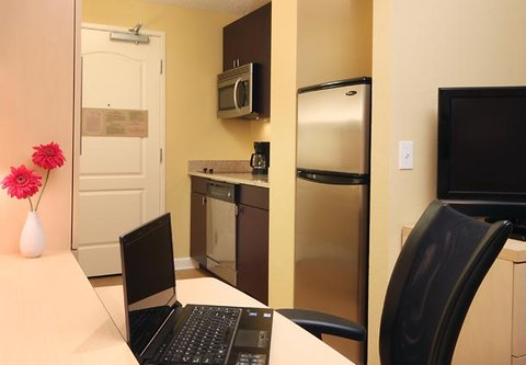 TownePlace Suites Albany Downtown Medical Center Hotel - Studio Suite Kitchen