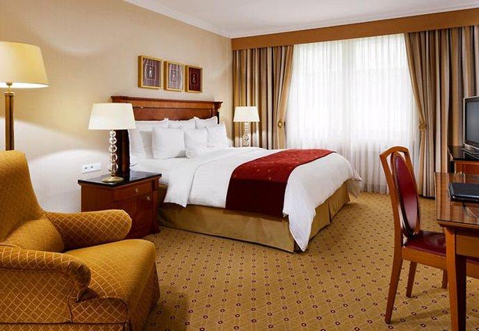 Prague Marriott Hotel Vista della camera