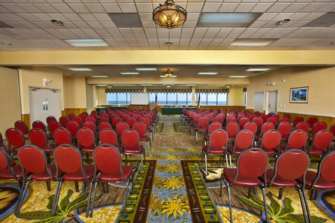 Ramada Plaza Nags Head Oceanfront - oceanview Ballroom Set Up theater style