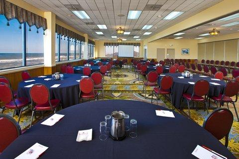 Ramada Plaza Nags Head Oceanfront - Ballroom meetings Set Up