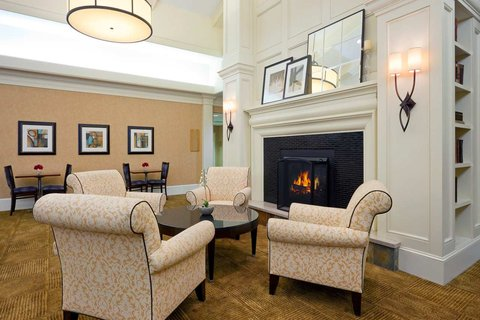 Homewood Suites by Hilton Albany Hotel - Fireplace