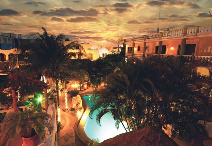 Hotel Aventura Mexicana Poolansicht