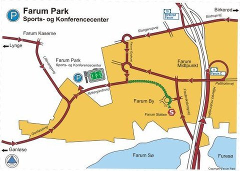 Farum Park Sports & Konferencecenter - Map