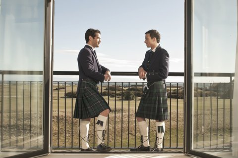 Old Course Hotel Golf Resort and Spa - Weddings - Groomsmen - View of Old Course