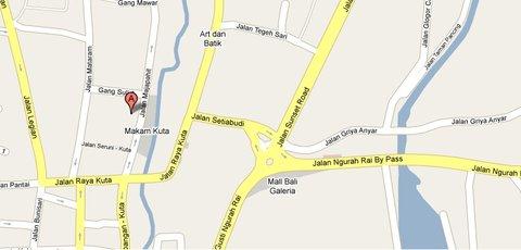 Bali Kuta Resort  - Location Map