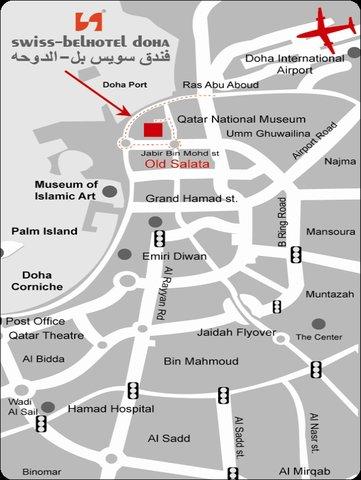 Swiss-Belhotel Doha - Location Map